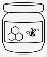 Honey Jar Coloring Pages Clipart Print sketch template