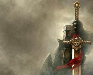 Fantasy Knight With Sword Computer Desktop Bac #12103 ...