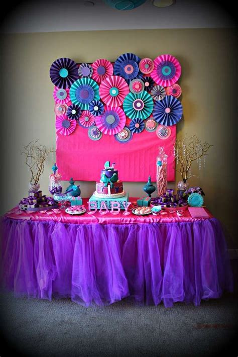 Purple And Teal Baby Shower Decorations by Pink Purple Turquoise It S A Baby Shower Ideas