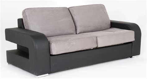 canapé convertible couchage permanent canape convertible couchage 140 cm alban wilma noir micro 23