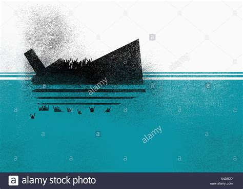 Sinking Boat Illustration by Sinking Ship Stock Photos Sinking Ship Stock Images Alamy
