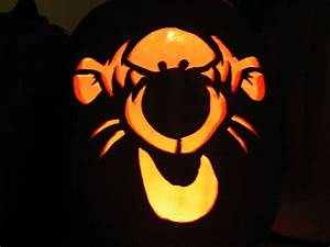 Tiger Face Pumpkin Carving Ideas Photos