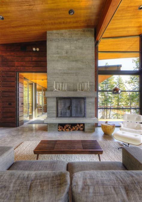 coeur dalene cabin blends lovely lake views  modern