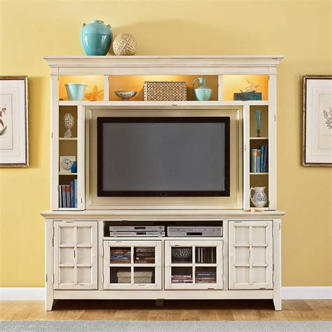 media console with bookcases compact white painted oak wood media cabinet with lighted