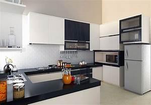 cuisine moderne en noir et blanc With cuisine moderne noir et blanc