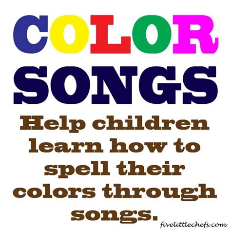 how do you spell color songs color songs five chefs