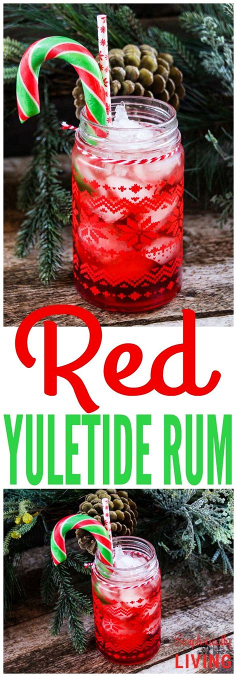 All of these winter drinks will complement your christmas dinner menu and holiday dessert spread excellently—but sometimes, they're best enjoyed all on their own under the christmas tree. Red Yuletide Rum Simplistically Living   Christmas drinks