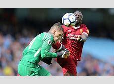Liverpool's Sadio Mane writes to Man City's Ederson on