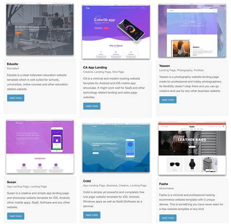 top    page website templates built