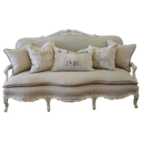 country settee antique painted country louis xv style sofa settee