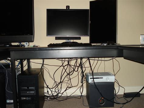 computer desk wire management computer cable management on the cheap