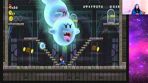 Super Mario Bros Wii World 7 Ghost House 2nd Star Coin