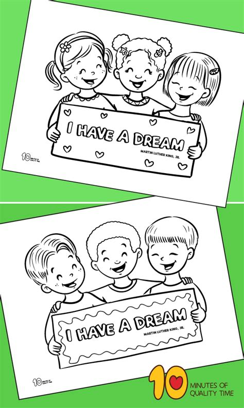 dream coloring page  minutes  quality time