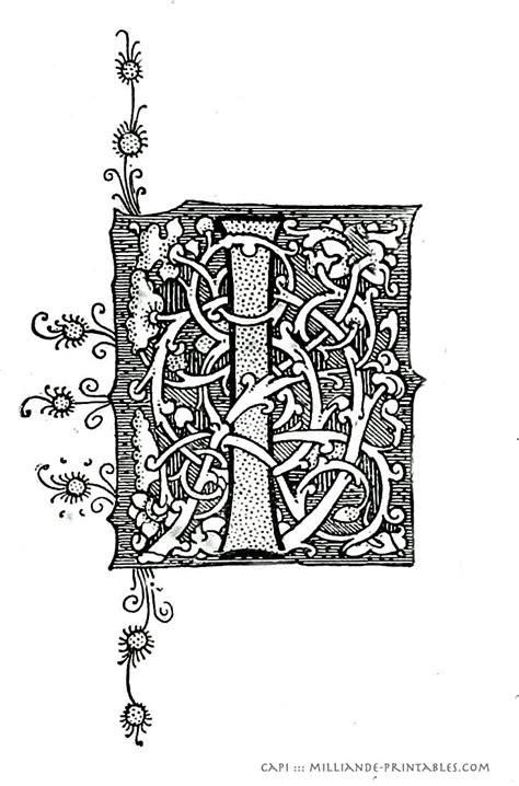 illuminated manuscript letters  printable alphabet letter decorated ornamental historical