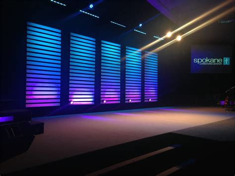 church stage designs slat stacks church stage design ideas