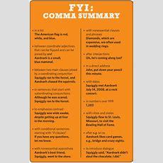 How To Use Commas A Summary  Grammar Girl