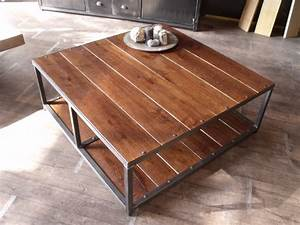 Table Basse Industrielle Style Industriel Micheli Design