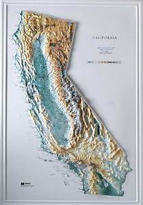 topographic maps california for sale | Raised Relief Maps ...