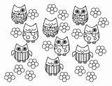 Owl Coloring Bird Printable sketch template