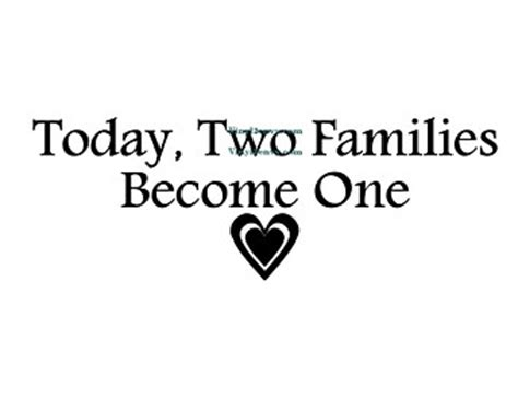 As Two Families Become One Quotes