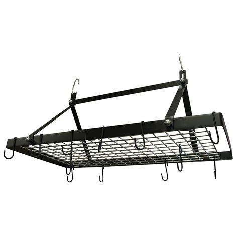 range with pot rack range kleen black enamel pot rack rectangle cw6013 the