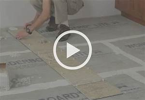 How to install ceramic and porcelain floor tile at the for How long does it take to install hardwood floors