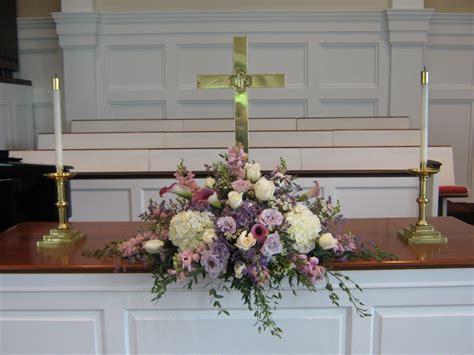 flower arrangements  church altar church wedding