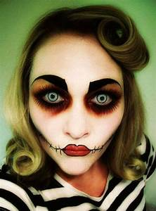 Halloween Make Up Puppe : 22 most horrifying halloween makeup ideas to try this time ~ Frokenaadalensverden.com Haus und Dekorationen