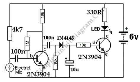 Sound Controlled Activated Triggered Led Simple Circuit