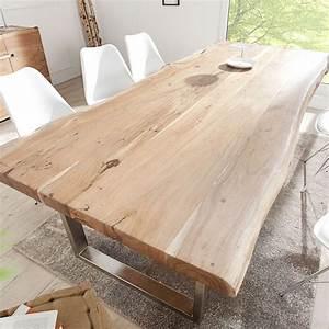 Details Zu Tisch Massiver Baumstamm MAMMUT Akazie