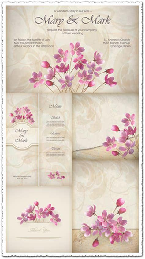 wedding invitations  cards vectors