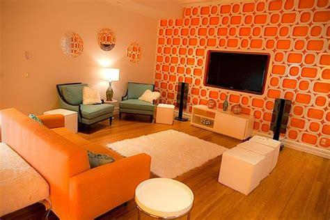 bright  fun orange room design