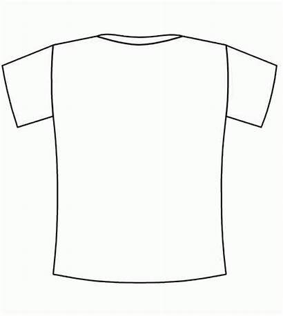 Shirt Blank Tshirt Coloring Clipart Jersey Pages