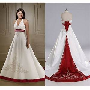 Aliexpress.com : Buy Hot Red and White Wedding Dresses ...