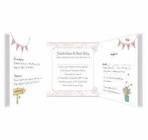 midsummer dream tri fold wedding invite rsvp loving With tri fold wedding invitations with postcard