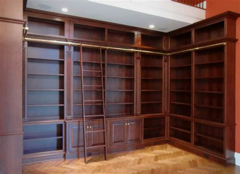 hand crafted library bookcases  ladder  odhner
