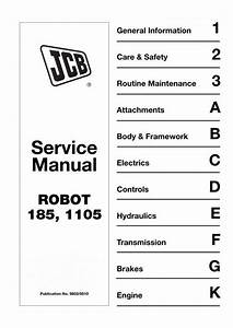 Jcb Robot 185  1105 Skid Steer Loader Service Manual