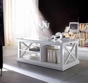Table Basse Blanc Bois : table basse bois blanc collection leirfjord table salle manger s jour ~ Teatrodelosmanantiales.com Idées de Décoration