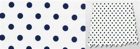 classic polka dot patterned white navy blue bedroom