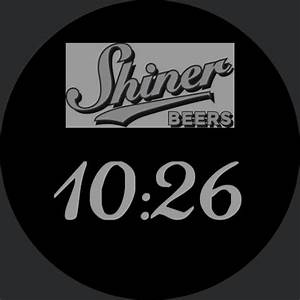 Shiner Bock Face  U2013 Watchfaces For Smart Watches