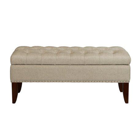 Tufted Bedroom Bench by Hinged Top Button Tufted Storage Bed Bench In Lunar