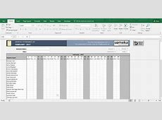Attendance Sheet Printable Excel Template Free Download