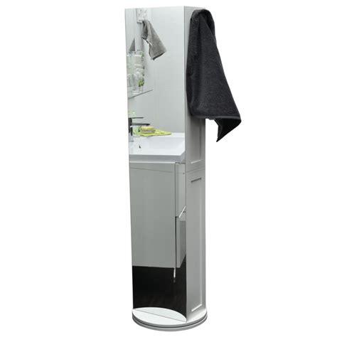 fauteuil de bureau pivotant colonne miroir avec base pivotante 169 5cm finition blanc