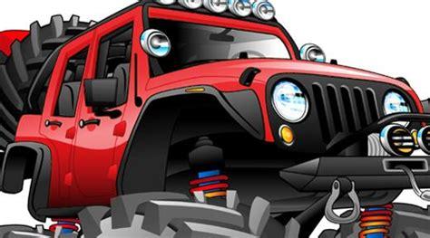 Jeep Off Road 4x4 Cartoon Tshirt #8188 Automotive Art