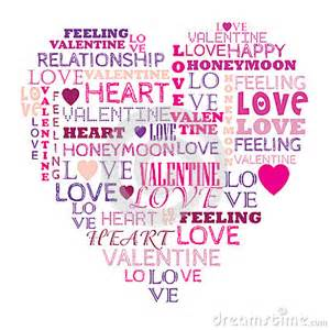 Heart Shaped Word Collage