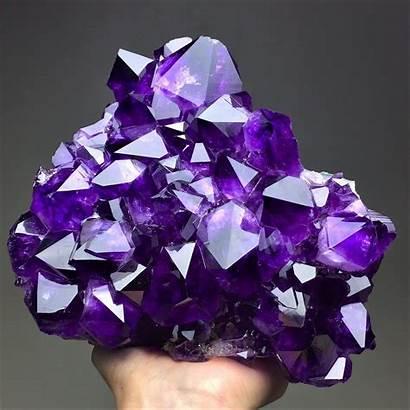 Amethyst Purple Brazil Minerals Causes Quartz Found