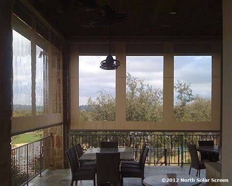 fortress clear vinyl outdoor shades  heavy winds