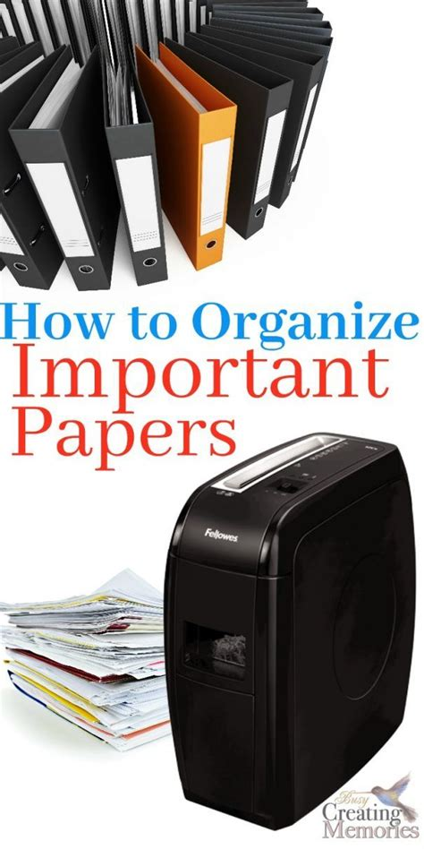 tips    organize important papers