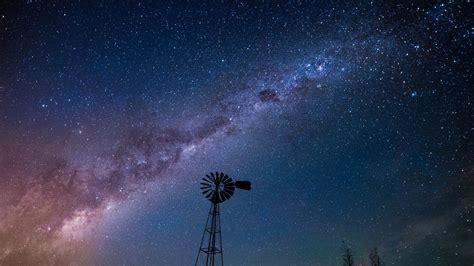 デスクトップ壁紙 木 風景 自然 スペース シルエット 長時間露光 星 タワー 天の川 晴天