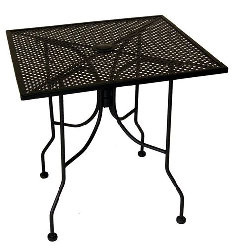 mesh top square outdoor table p
